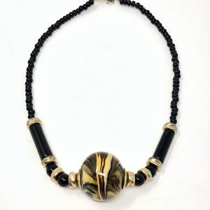 Tommasi Italian Murano Art Glass Beaded Necklace